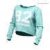 Топ с длинным рукавом BB Cropped Sweater, Light Aqua