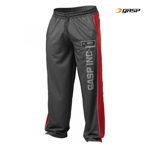 Спортивные брюки GASP No1 Mesh Pant, Black\Red