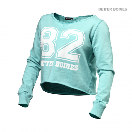 Топ с длинным рукавом Better Bodies Womens Cropped Sweater (Light Aqua)