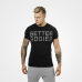 Футболка Better Bodies Basic Logo Tee, Black