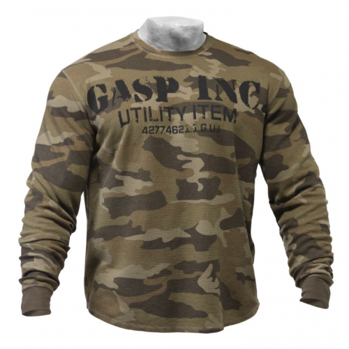 Свитер GASP Thermal Gym Sweater, Camoprint 220591-673