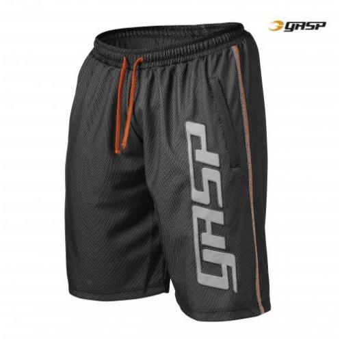 Шорты GASP Mesh Logo Shorts (черные)