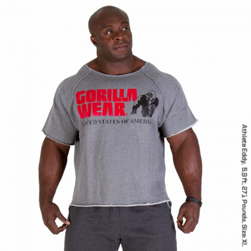 Топ Gorilla Wear Classic Work Out Top (Gray Melange)