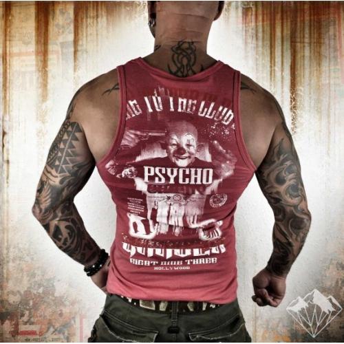 Майка Yakuza KL Psycho Circus (красная)
