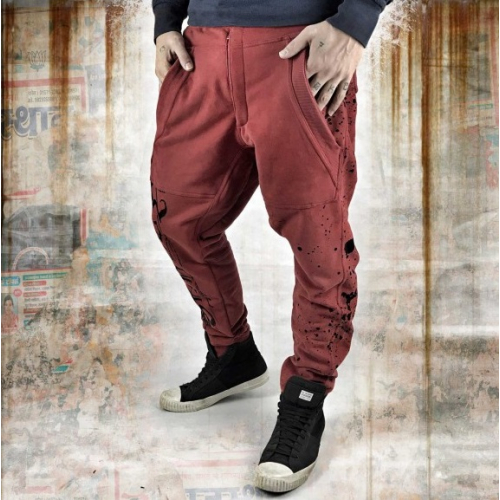 Спортивные брюки Yakuza Splatter Anti Fit Joggers red