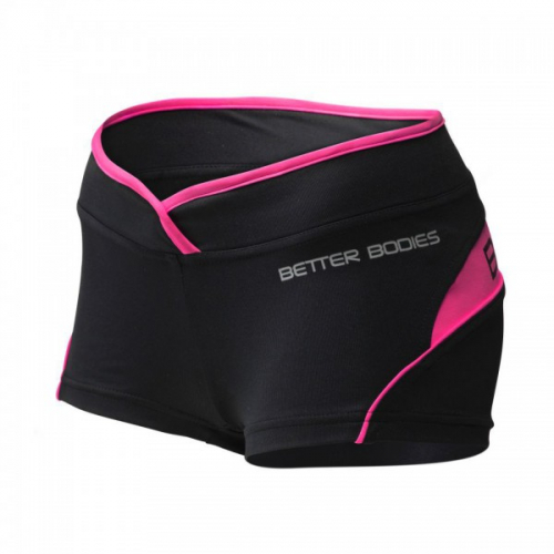 Шорты Better Bodies Womens Shaped Hotpant (черно-розовые)