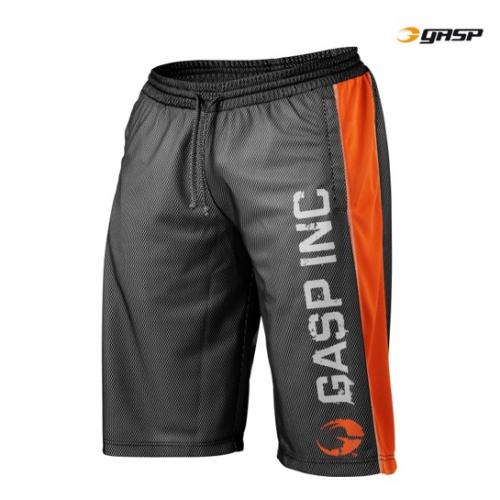 Шорты GASP Ultimate Mesh Shorts (черно-оранжевые)
