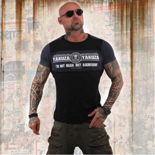 Футболка Yakuza Aggressive Two Face T-Shirt (черная)