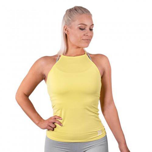 Спортивный топ Better Bodies Performance Halter (лимонный желтый)