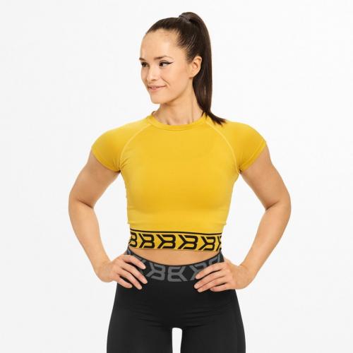 Укороченная футболка Better Bodies Sugar Hill Tee (желтая)