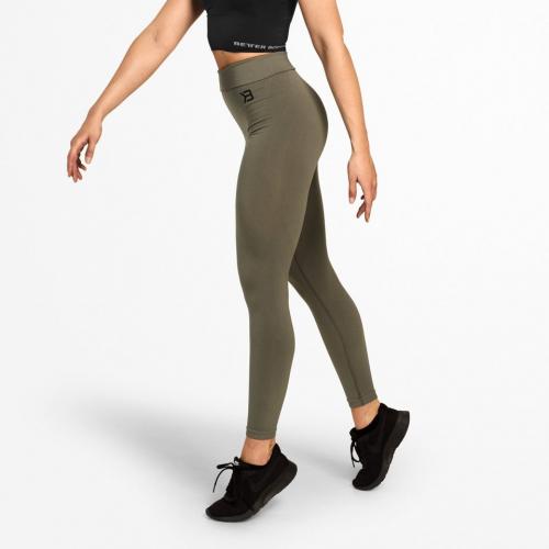 Спортивные леггинсы Better Bodies Rockaway leggings (оливковые)
