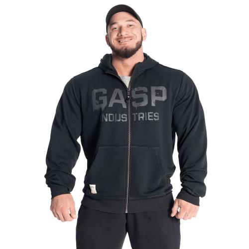 Толстовка GASP layered hood, Washed Black