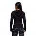 Кофта с длинным рукавом Performance ls hood (черно-серая)