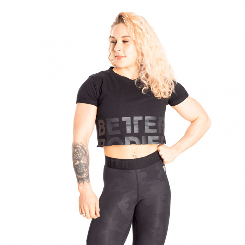 Укороченная футболка Better Bodies Astoria cropped tee (Черная)
