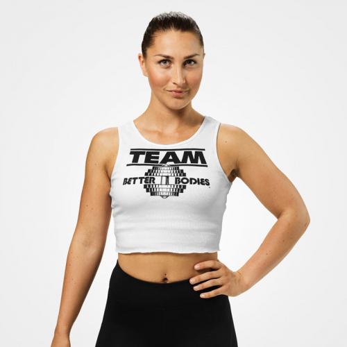 Укороченная майка Team BB Rib Tank (Белая)